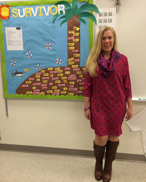 preppy teacher blogger dressember mud pie brooke dress maryland pink and green