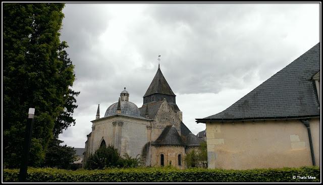 Château d'Azay Le Rideau renaissance Francois Ier, église Azay le Rideau chateau Pays de la Loire Touraine Balzac