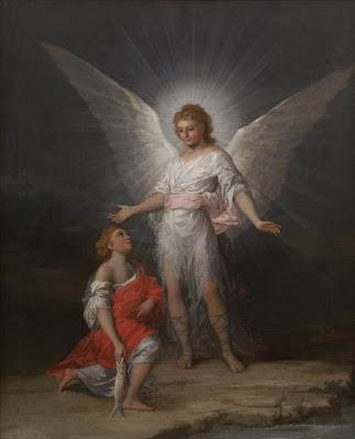 Tobías y el Ángel de Francisco de Goya, óleo sobre lienzo, 63,5 x 51,5 cm