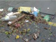 TORMENTA E INUNDACION EN LA C.A.B.A.: LINIERS UN CAOS! basura inundacion