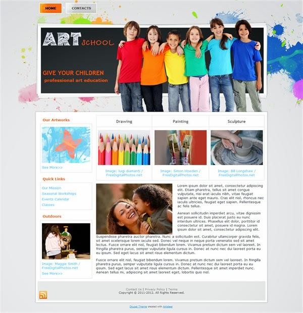 Art School  - Free Drupal Theme