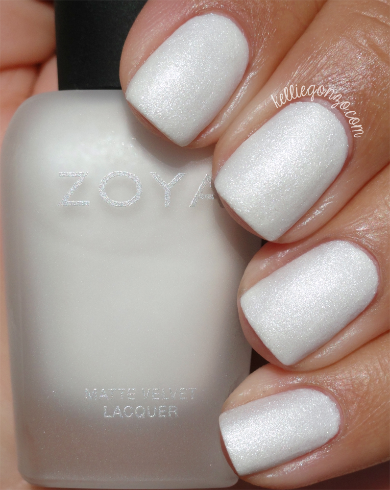 KellieGonzo Zoya Winter Holiday 2015 Matte Velvet Collection