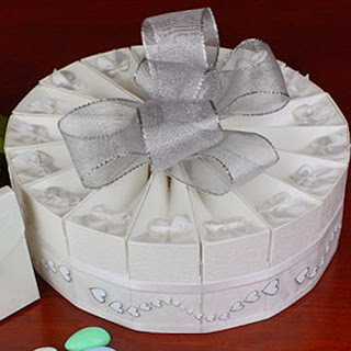 Torta de cajitas de boda