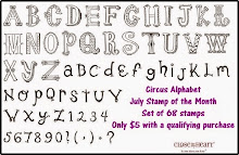 "The July Stamp of the Month is ""Circus Alphabet"""