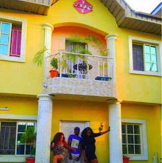 queen of flaunting of boobs cossy orjiakor has a massive mansionshe said showing off her boobs got her this big house