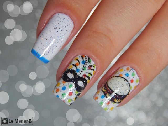 carnaval nail art