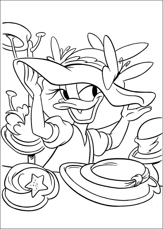 Fun Coloring Pages Disney Daisy