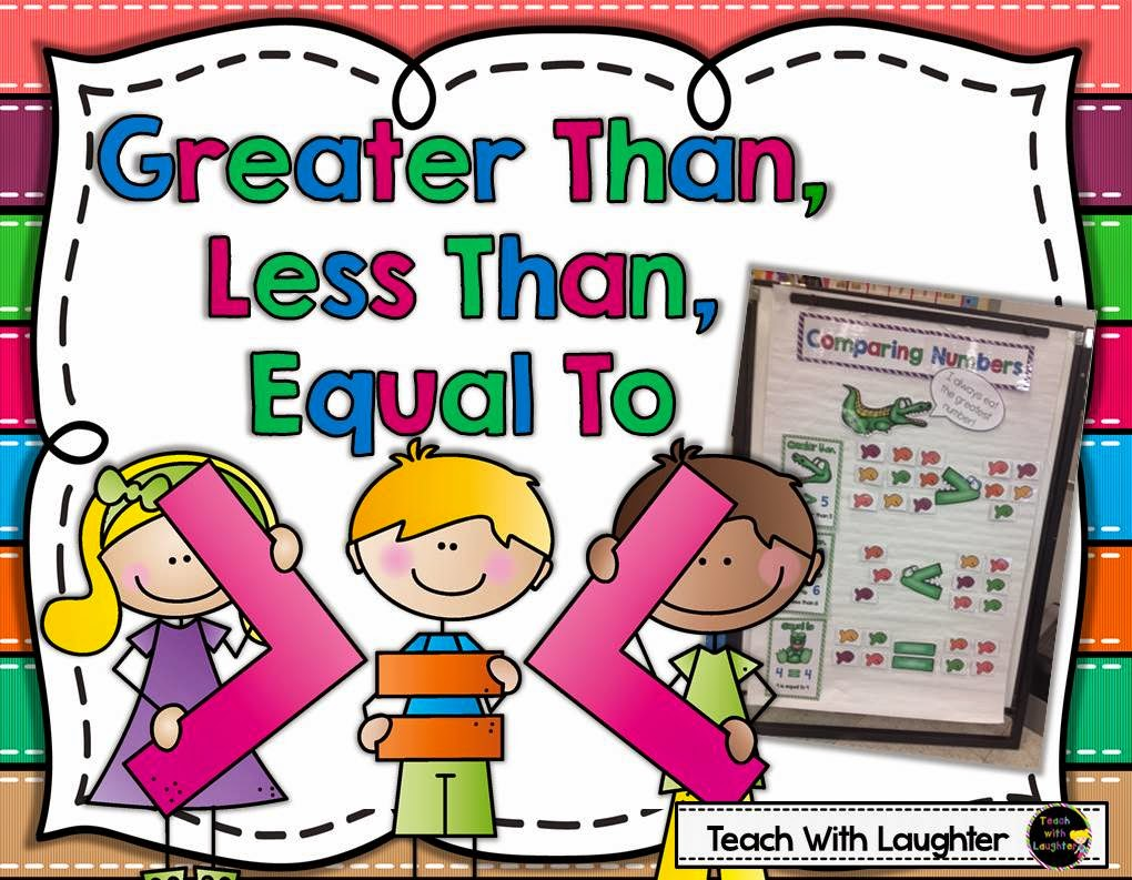 Free Worksheets more than less than worksheets : Teach With Laughter: Greater Than, Less Than, Equal To