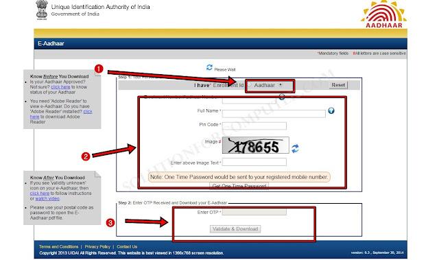 Aadhaar Card Download and Take Print Online (Updated)