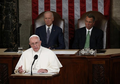 Pope Francis adresses the U.S. Congress in Sept. 2015