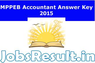 MPPEB Accountant Answer Key 2015