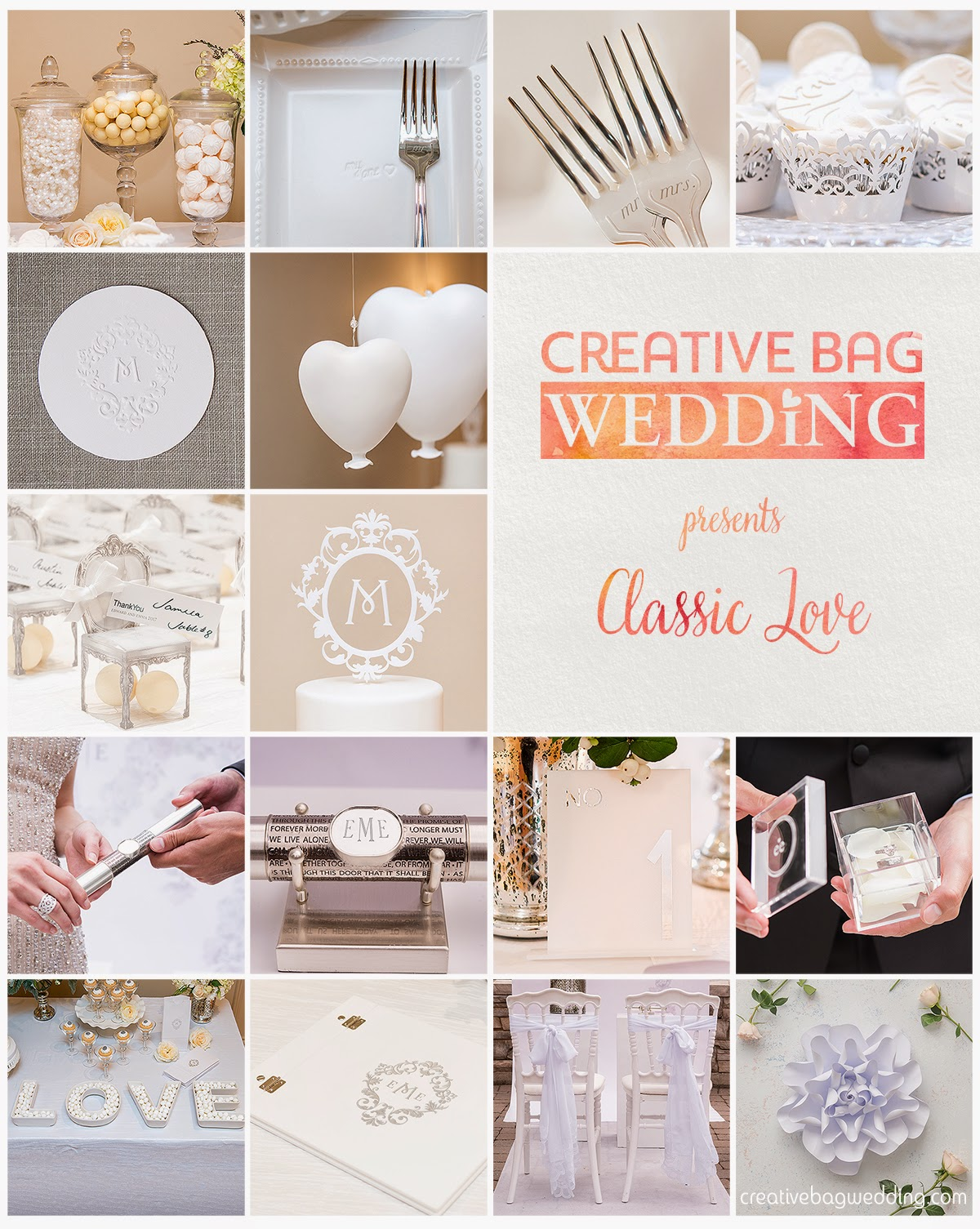 classic love mood boards | Creative Bag Wedding