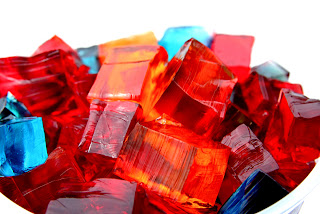 Jello colors flavors cubes