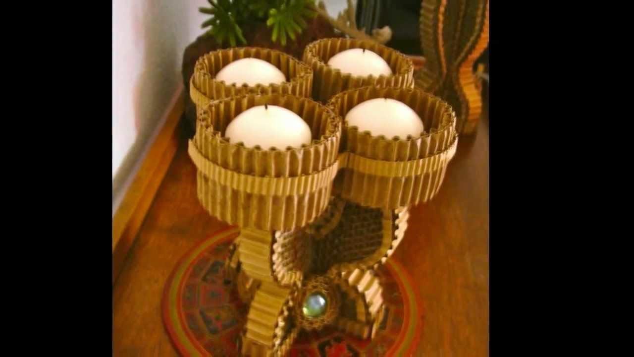 Candelabros con Materiales Reciclados, Ideas para Navidad