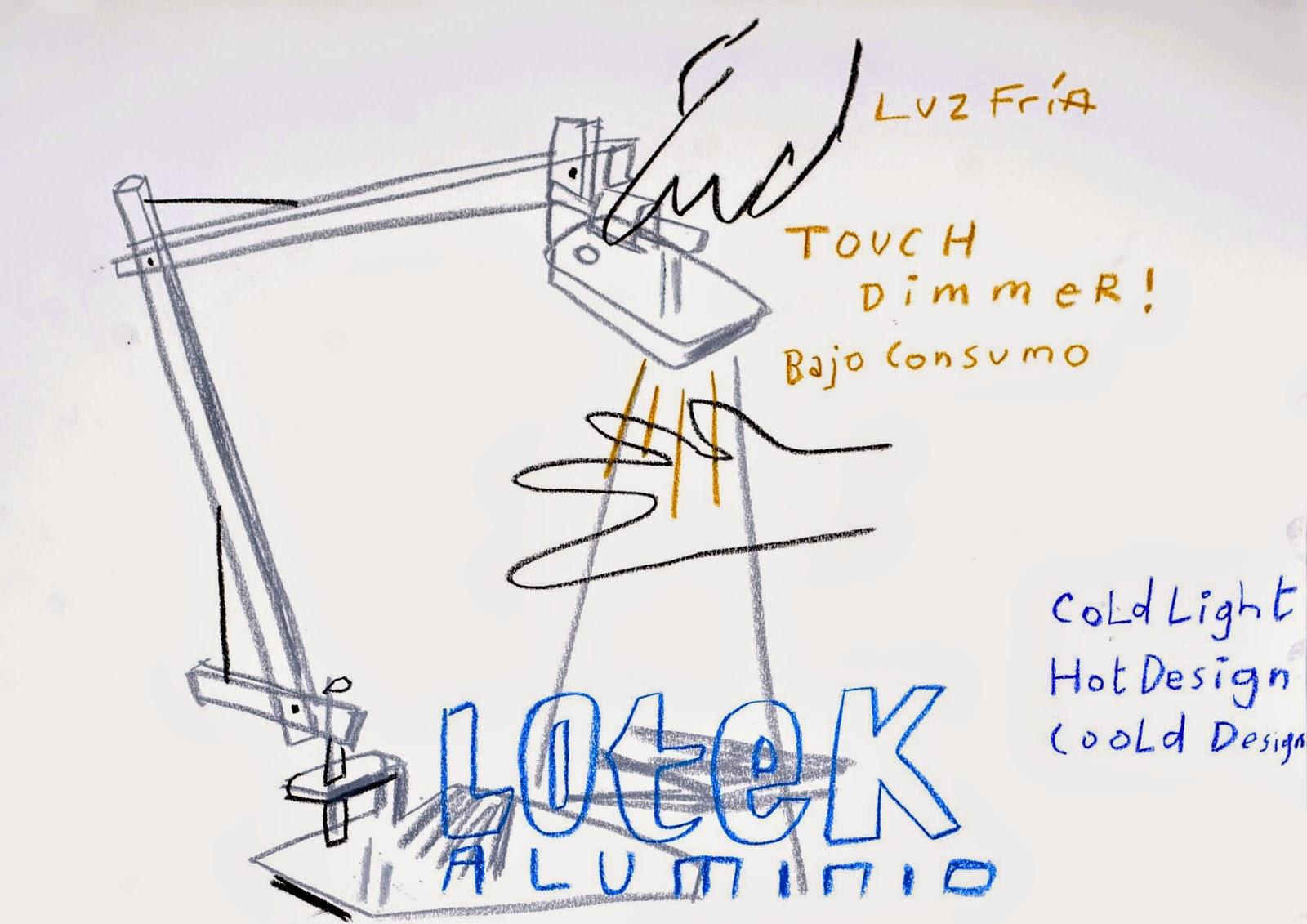 Lámpara Lotek by Artemide & Javier Mariscal