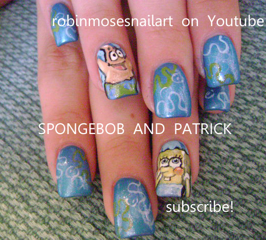 Spongebob nail spongebob and patrick nail the incredibles nail spongebob nail spongebob and patrick nail the incredibles nail art the incredibles nail superhero nails disney pixar nails disney nails cartoon nails prinsesfo Gallery
