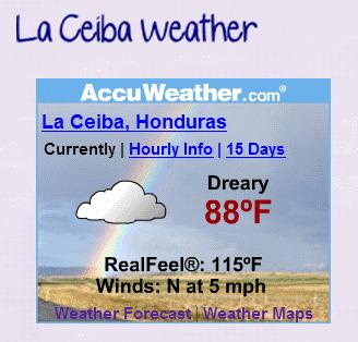 La Ceiba weather