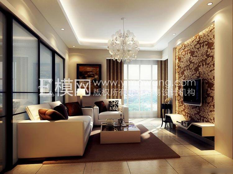 Dizmir 3d design scenes of luxury decor for 3d max vray - Decoration de salon moderne ...