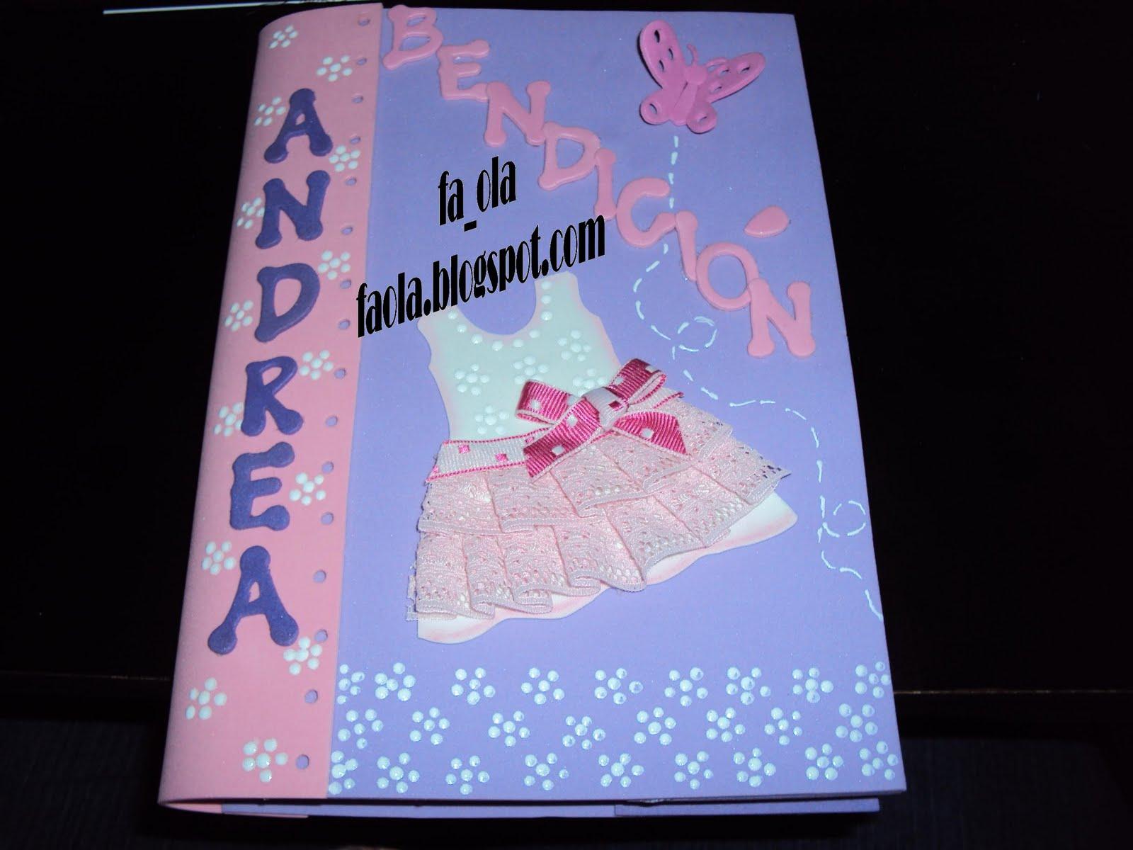 fa_ola evart`s: Cuaderno decorado para una hermosa niña... babyshower