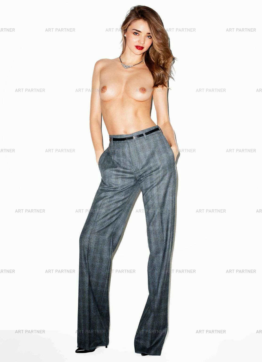 Miranda Kerr – Harper's Bazaar Magazine Topless Photoshoot