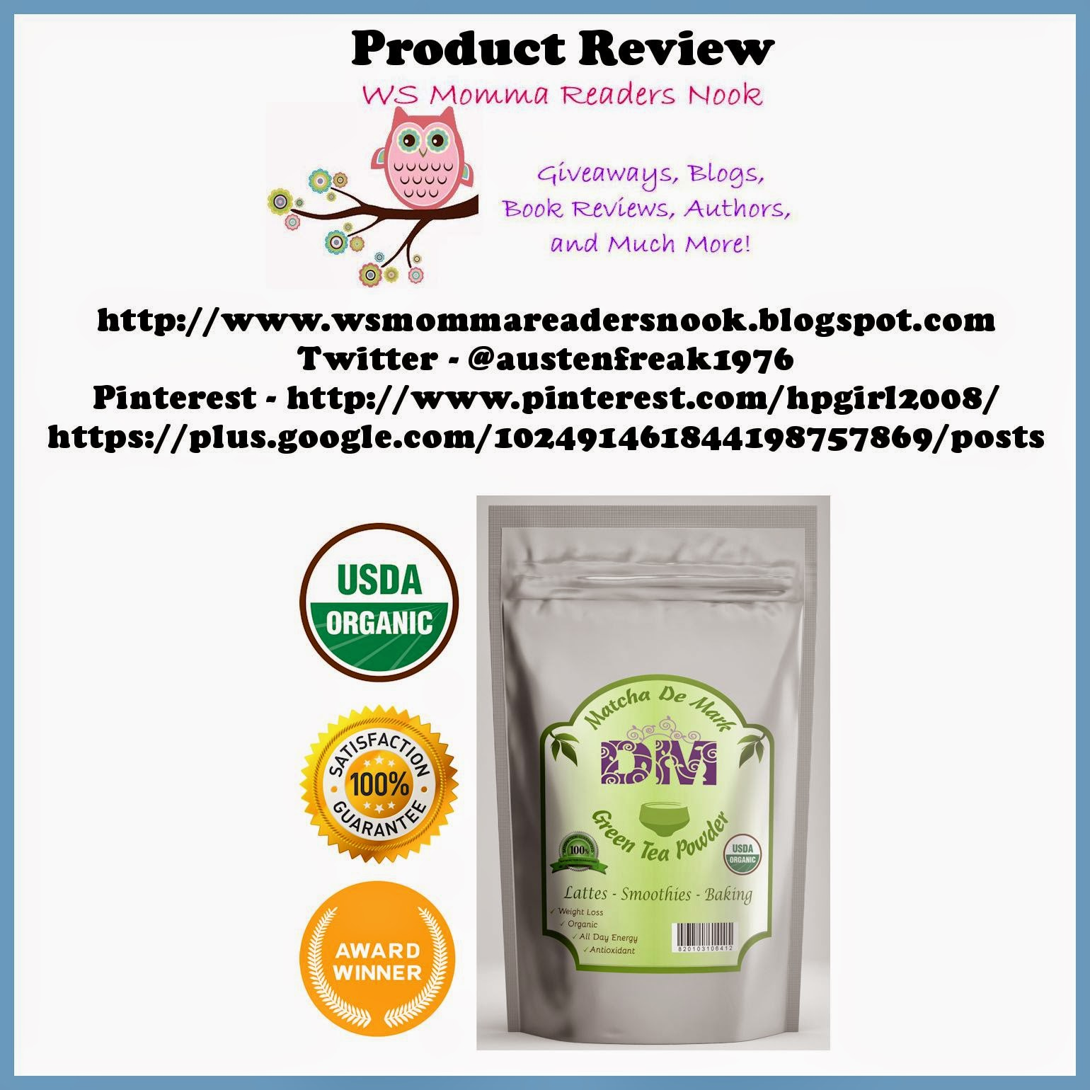 http://www.amazon.com/Matcha-Green-Tea-Powder-Organic/dp/B00KTHOFPK/ref=sr_1_1?ie=UTF8&qid=1412533129&sr=8-1&keywords=matcha+de+mark