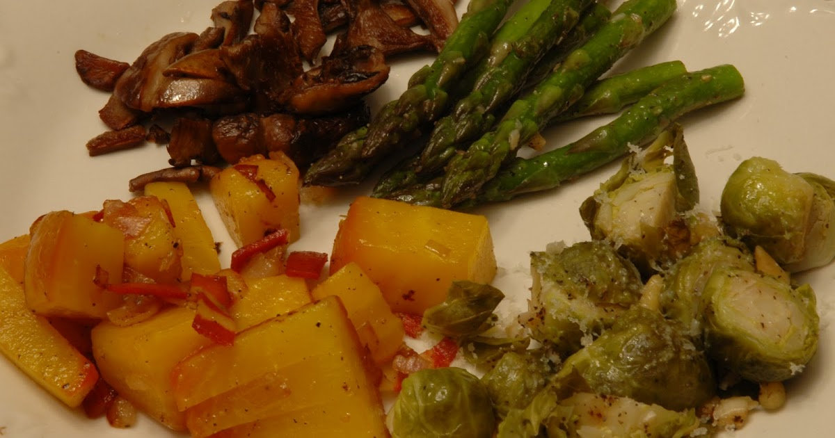 Roasted Golden Beets and Brussel Sprouts