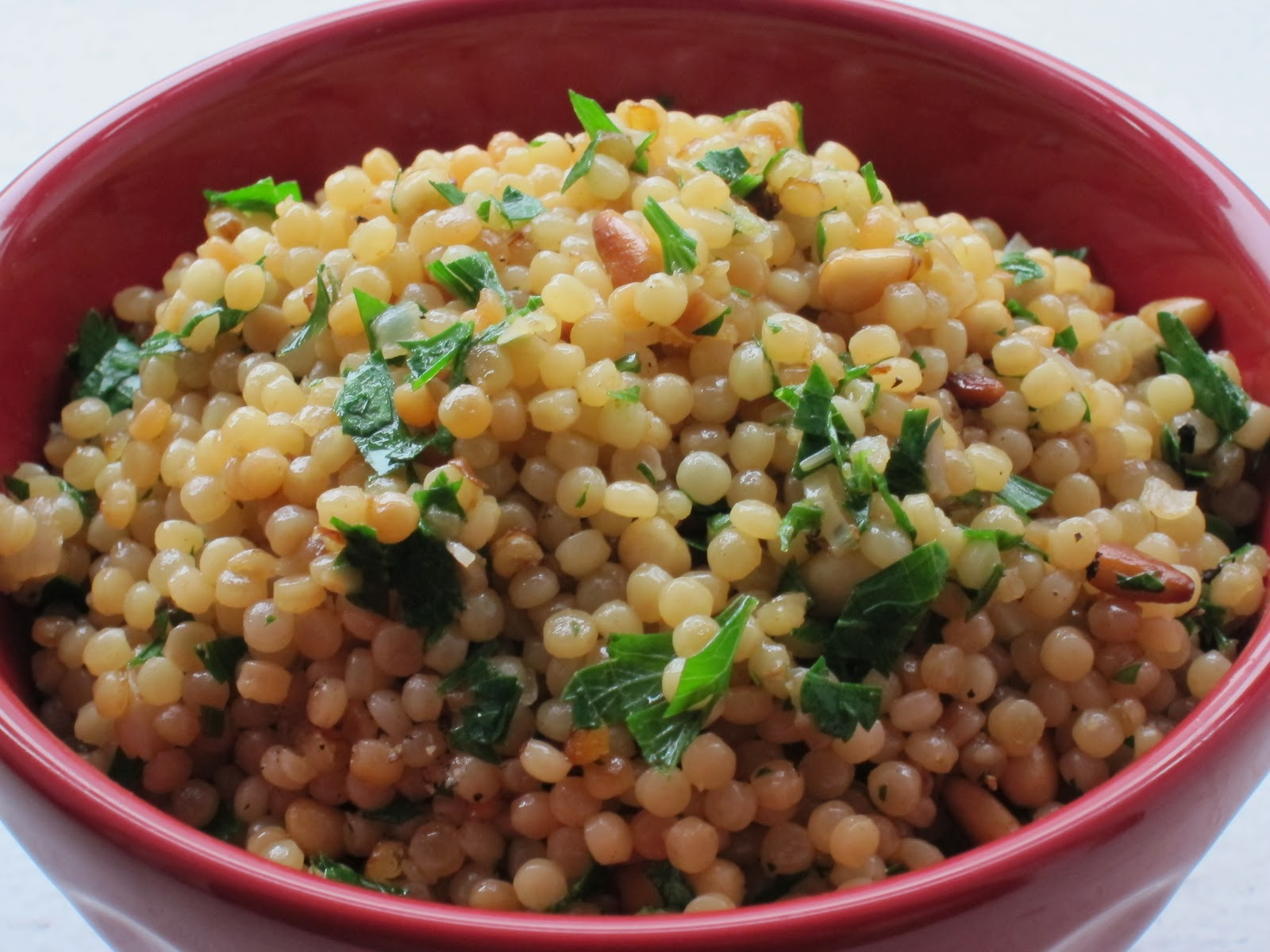 Slice of Rice: Toasted Israeli Couscous with Pine Nuts and Parsley