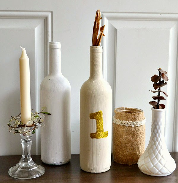glass bottle craft as a home decor