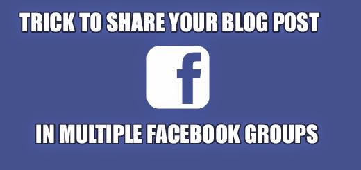 sharing blog post blogspot facebook