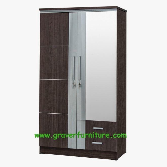 Lemari Pakaian 2 Pintu LP 2996 Graver Furniture