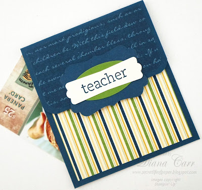Handmade Gift Card Holder - Male Teacher
