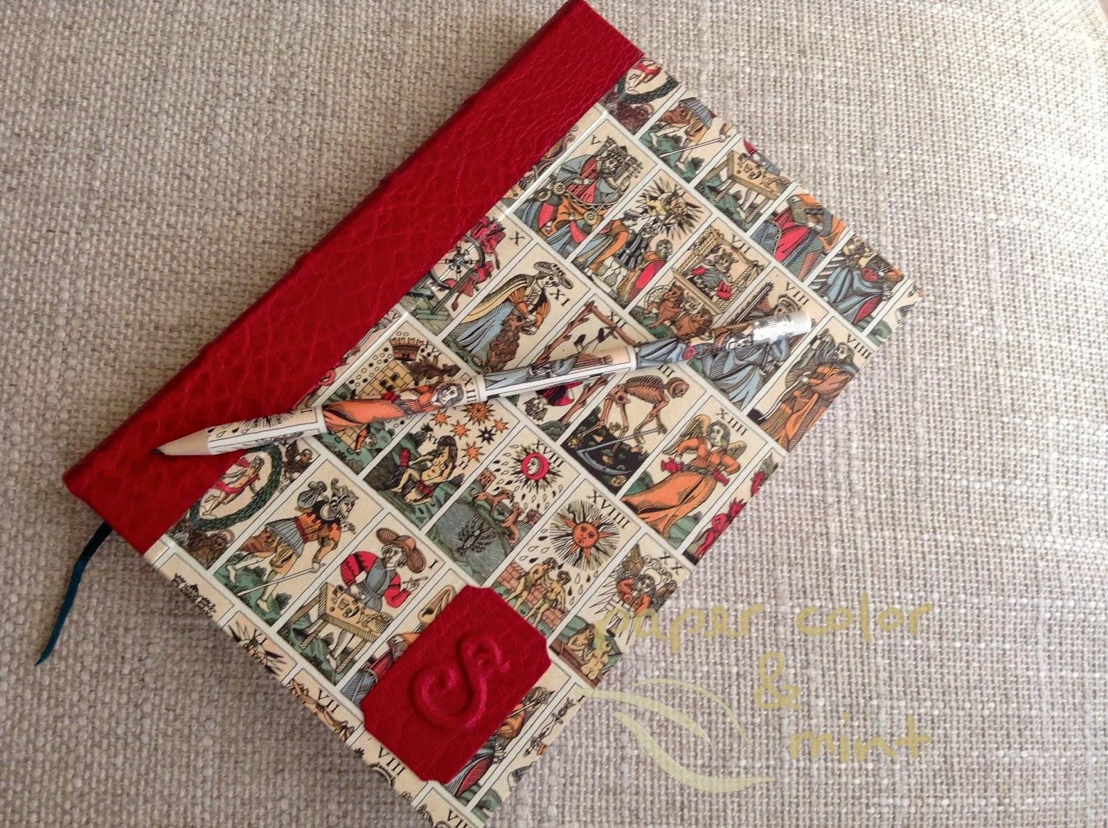 Conjunto Tarot Encuadernación Cuaderno