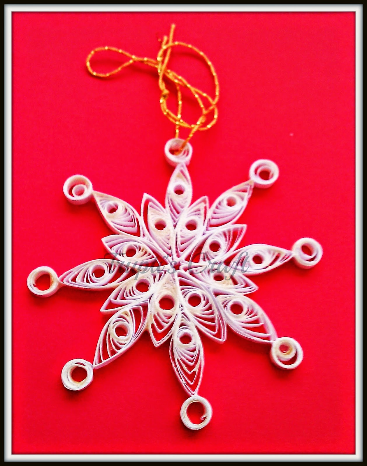 Trupti's Craft: Paper Quilling Christmas Ornaments - photo#27