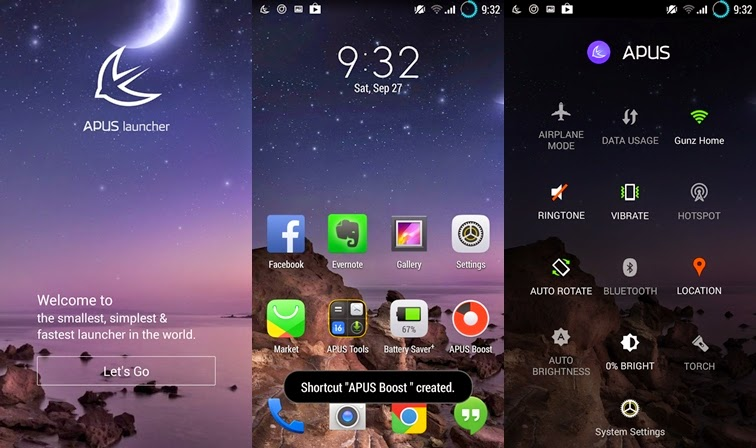 Preview APUS Launcher | Andromin