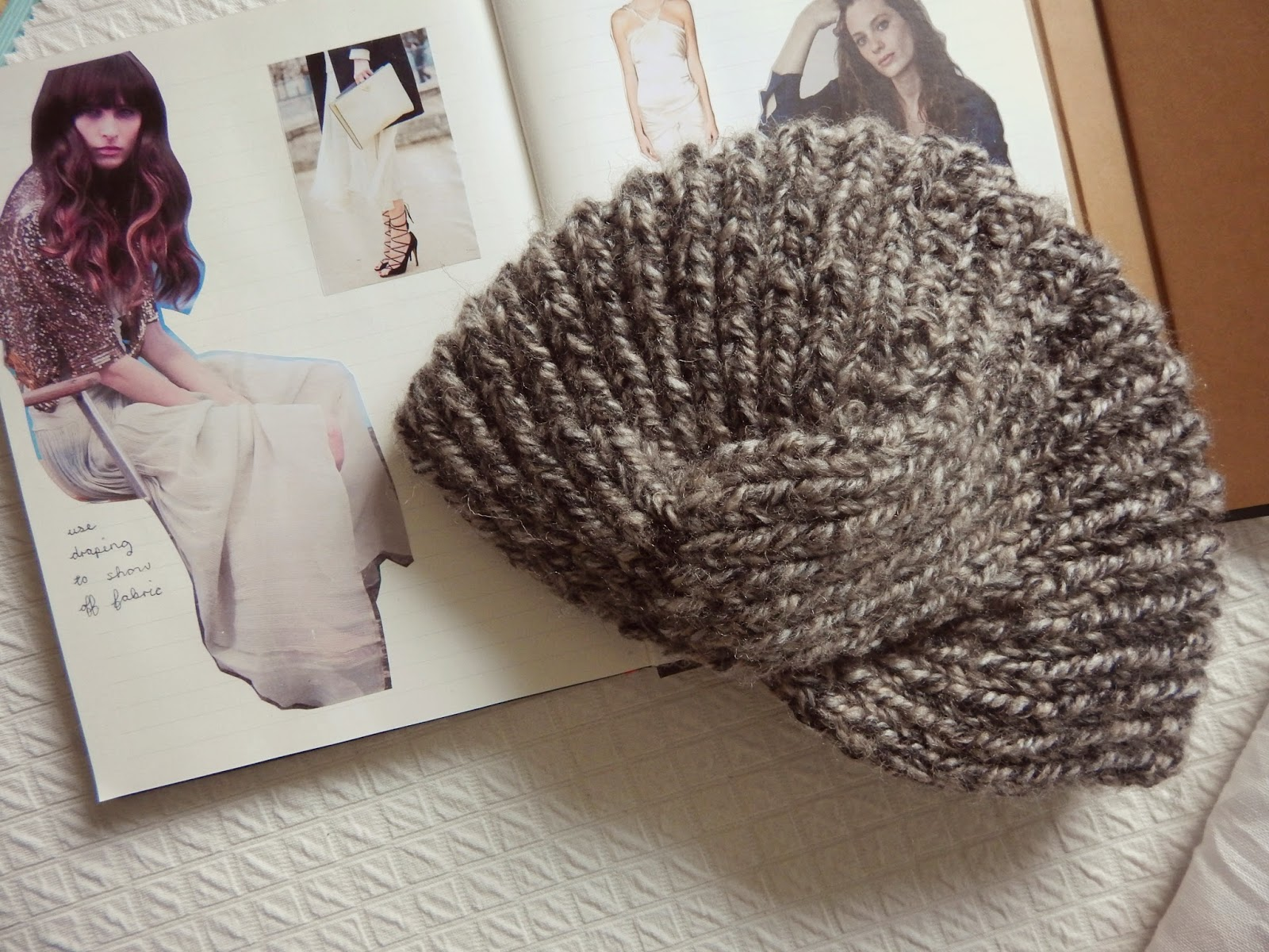 Knitted Turban Beanie: Take 1