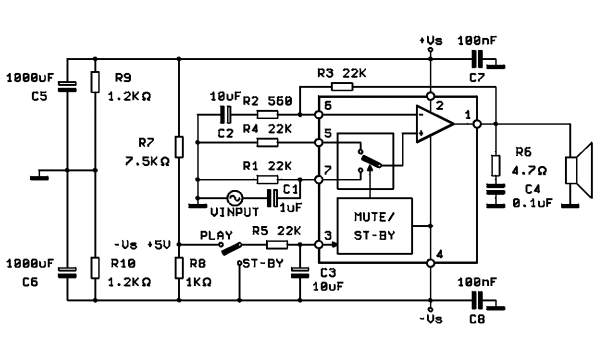 amplifiercircuits com  28w