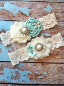 Wedding Garter Tiffany Blue