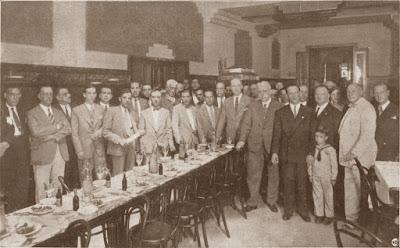 Vermut en homenaje a los ajedrecistas Marín, Golmayo, Soler y Ribera, 3 de agosto de 1930