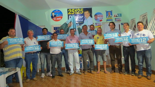 Líderes políticos de Agua Boa, antes adversários, se unem em apoio à candidatura de Pedro Taques