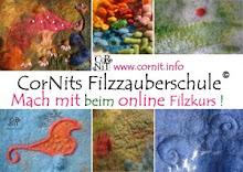 Der online Filzkurs:Alles über die Filzoberflächengestaltung & flotte Filzanleitungen.
