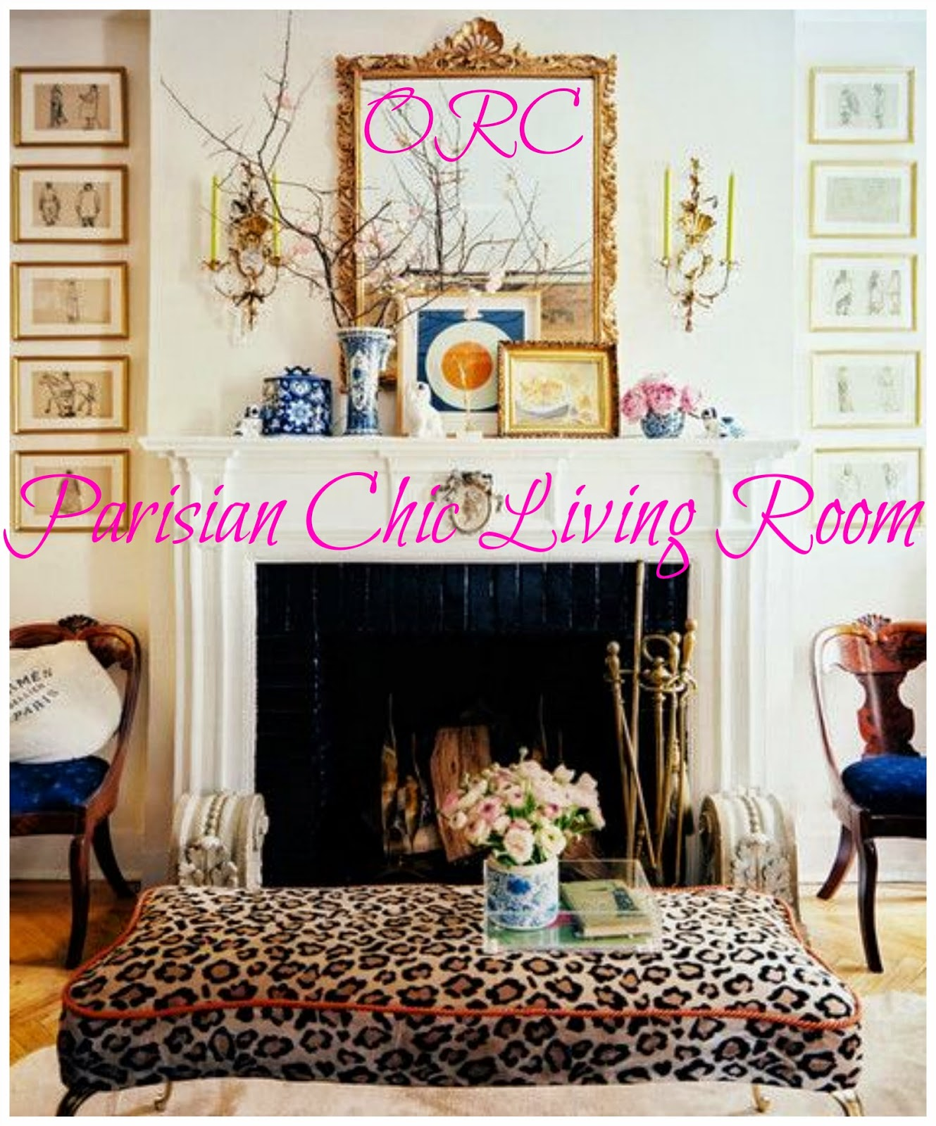 One Room Living Space Rosa Beltran Design One Room Challenge Parisian Chic Living Room