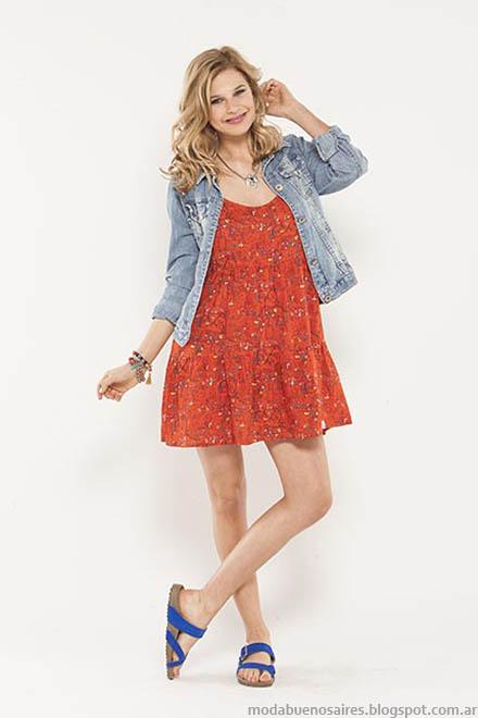 Moda verano 2015 vestidos cortos Doll Fins.