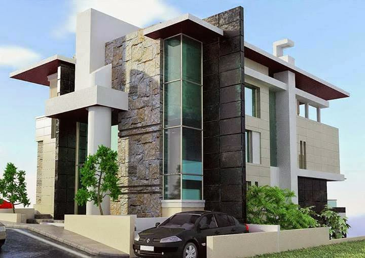 Amudu modern split residential house for Modern residential house