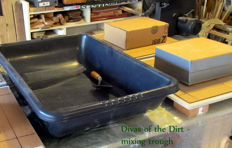 Concrete Mixing Tub : The divas of dirt march