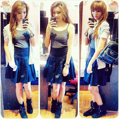 outfit lookbook look coordinate fashion attire apparel blog misskatv selca selfie