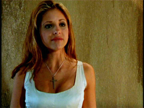 Buffy season 1 white dress blue
