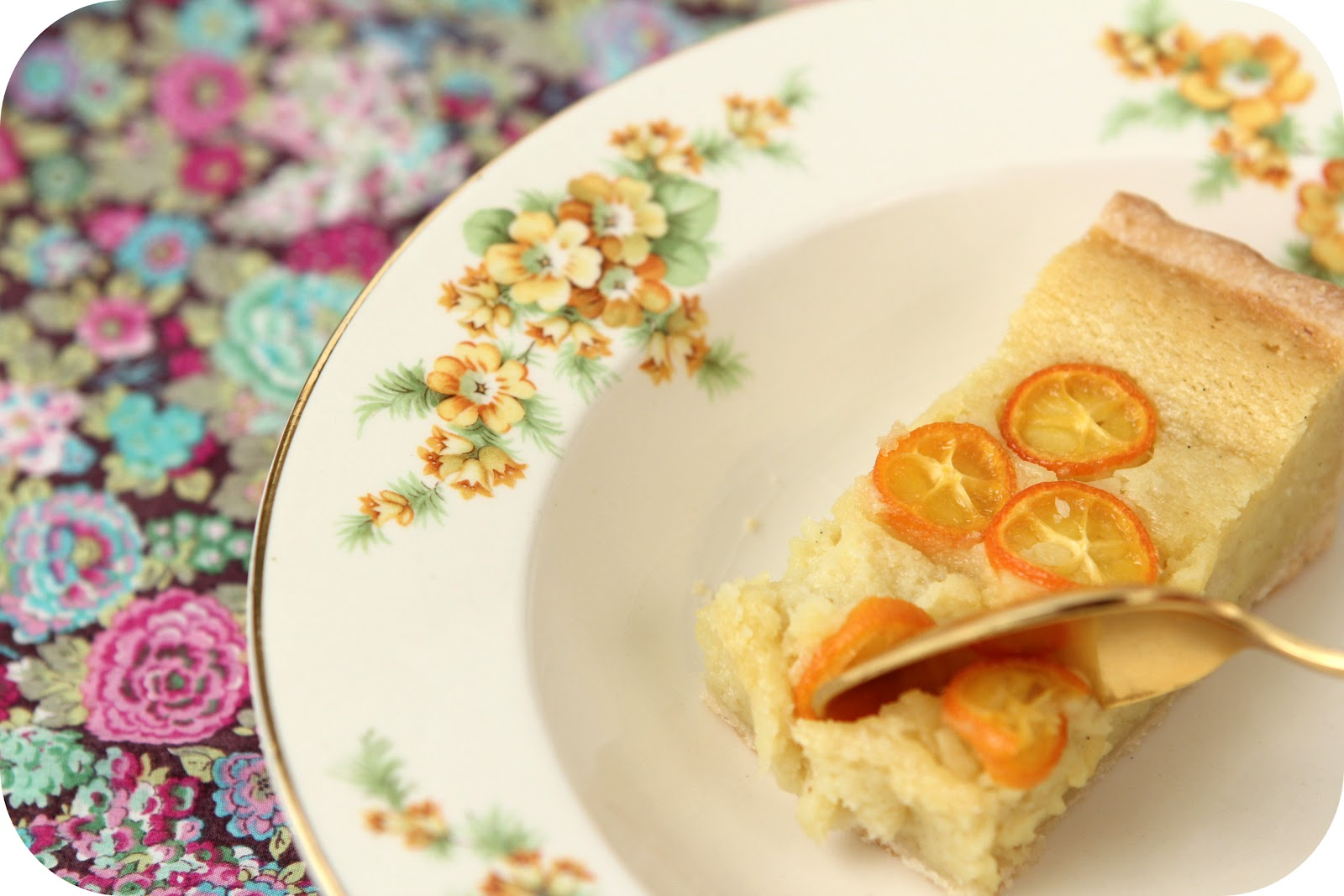 Dulce Delight: Kumquat Frangipane Tart