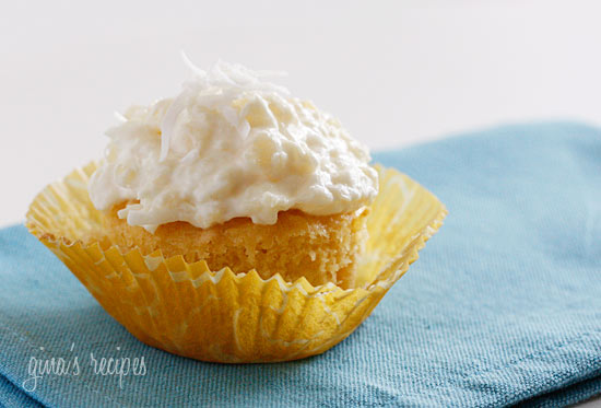 Pina Colada Cupcakes Using Cake Mix
