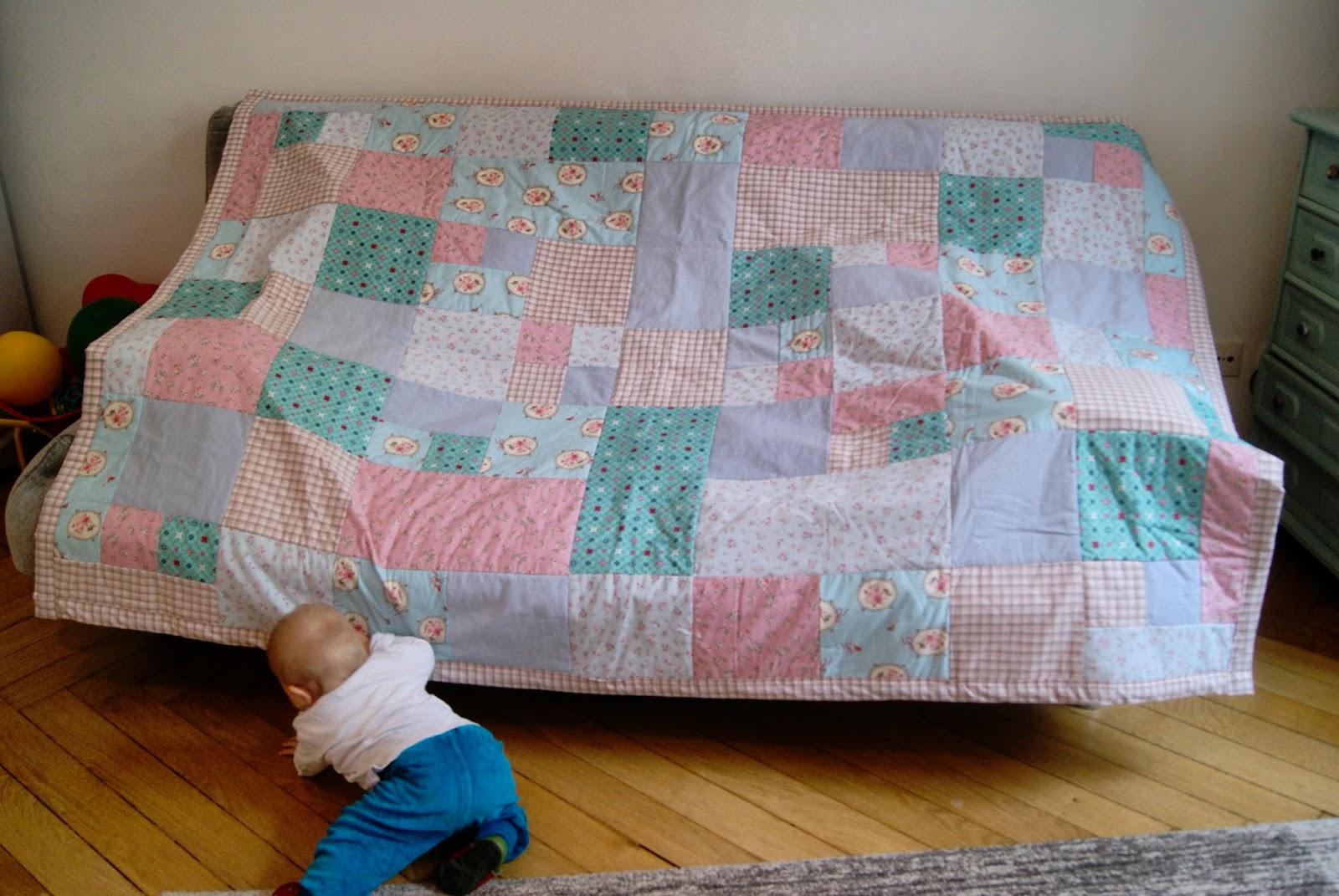 und dann kam irma mein erster quilt f r mama. Black Bedroom Furniture Sets. Home Design Ideas