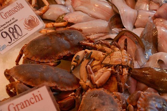 Rialto Fish Market Venice crab